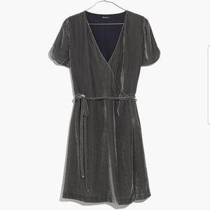 MADEWELL Velvet Wrap Dress